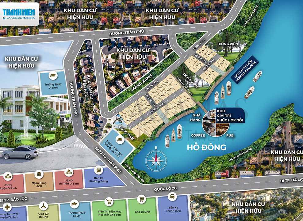 Nắm bắt được điều này, công ty TNHH Đầu tư Adamas đã hợp tác với Thanh Niên Holdings, trực thuộc tập đoàn truyền thông Thanh Niên để phân phối các dự án ở khu vực Di Linh và Bảo Lộc.