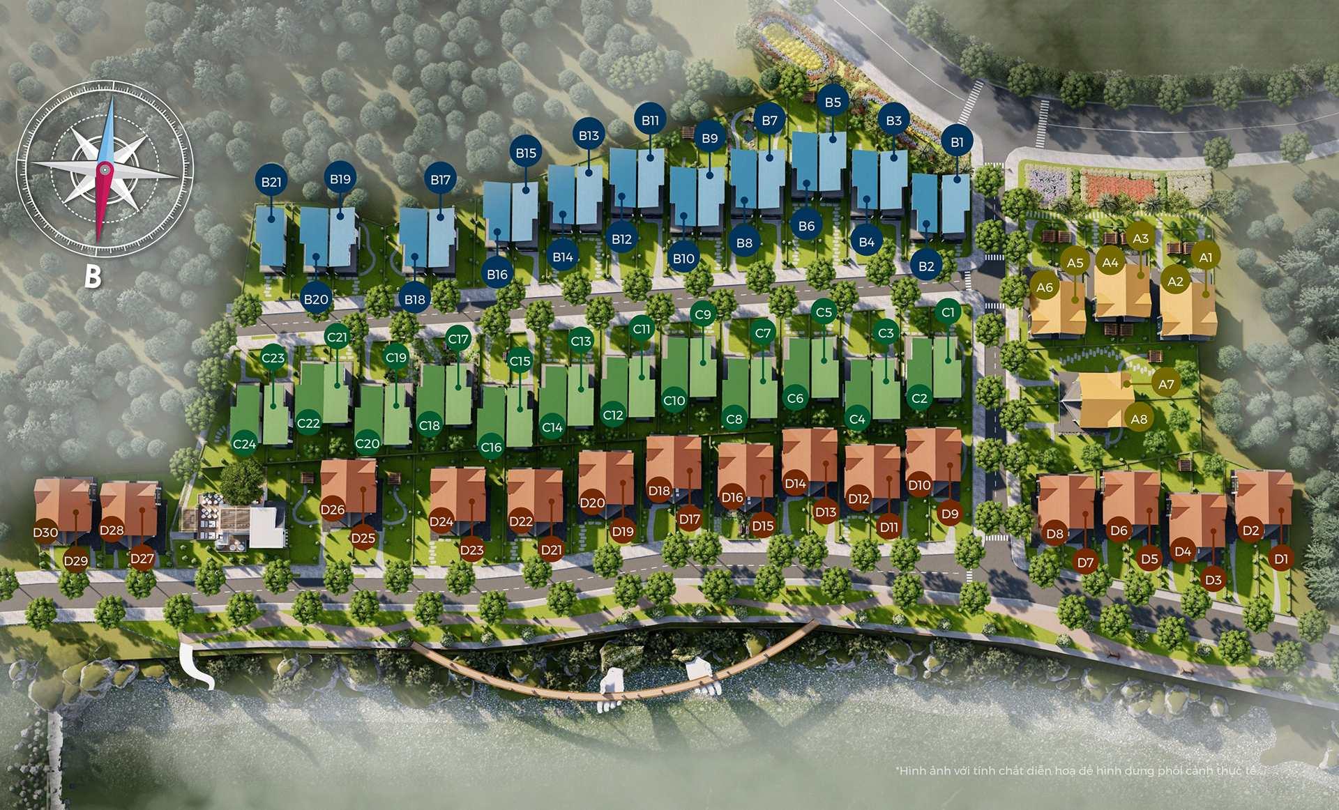 Bất động sản Lâm Đồng - Chuỗi Dự án Đà Lạt Pearl - Mặt bằng tổng thể