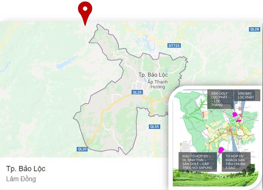 Bất động sản Lâm Đồng - Chuỗi Dự án Green Life 1 - Vị trí