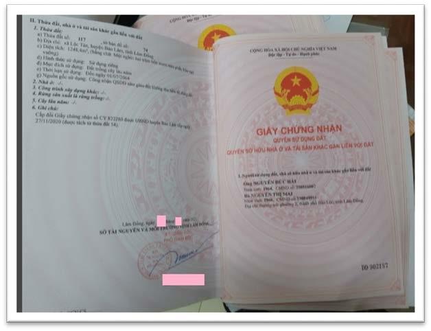 Bất động sản Lâm Đồng - Dự án Lộc Tân Farm 38 - Pháp lý
