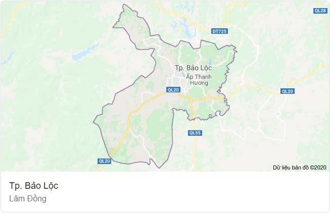 Bất động sản Lâm Đồng - Dự án Lộc Tân Farm 38 - Vị trí
