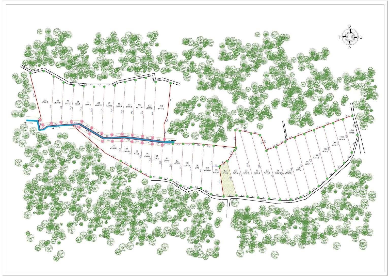 Bất động sản Lâm Đồng - Dự án Lộc Tân Farm 38 - Sơ đồ mặt bằng